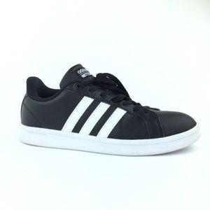 Adidas cloudfoam advantage black  3 stripes size 8